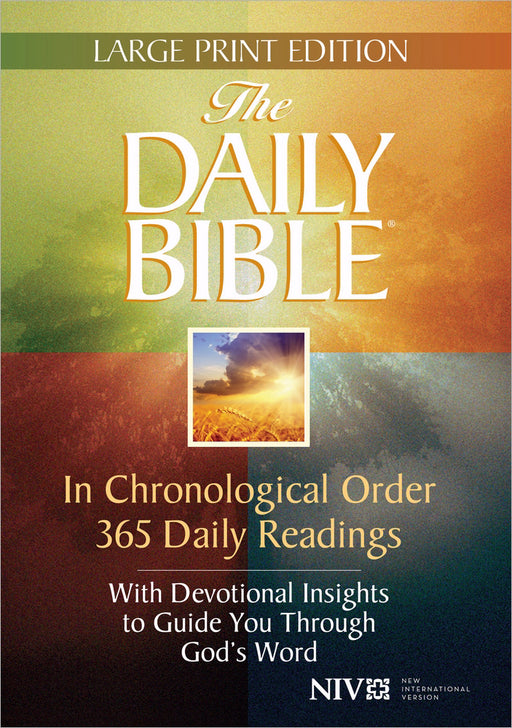 NIV Daily Bible In Chronological Order Large Print-Hardcover