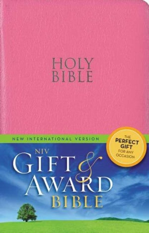 NIV*Gift & Award Bible-Pnk LeatherLook