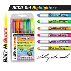Bible-Accu Gel-Hangable-Asst Colors Highlighter