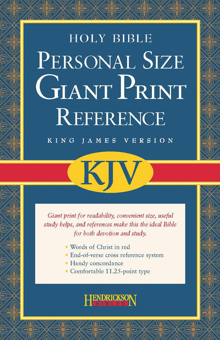 KJV Personal Size Giant Print Reference Bible-Black Imitation Leather