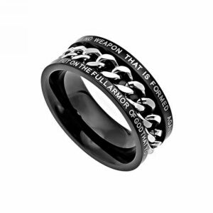 Black Chain-No Weapon-Sz 12 Ring