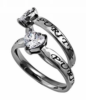 CZ Heart-Purity-Sz  7 Ring