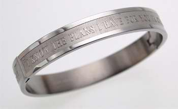 "Bracelet-Bangle-I Know (Jer 29:11) (8"")"