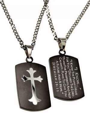 Black Shield Cross-I Know The Plans (Jer Necklace