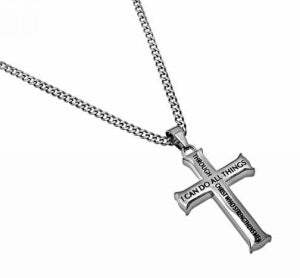 Iron Cross-I Can Do All Things... (Phil 4 Necklace