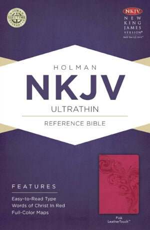 NKJV Ultrathin Reference Bible-Pnk LeatherTouch (F