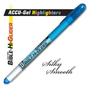 Bible Hi-Glider Gel Stick-Blu Highlighter