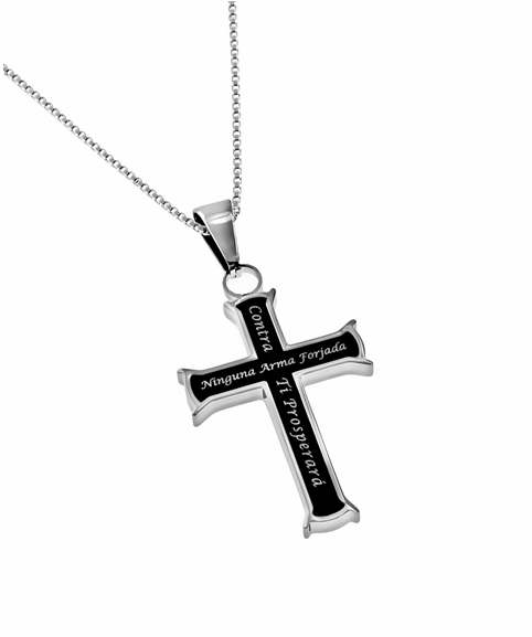 "Span-Necklace-Black Iron Cross-No Weapon (Womens)-18"" Chain"
