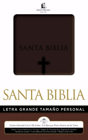RVR 1960 Large Print Handy Size Bible-Brn Imi-Spanish