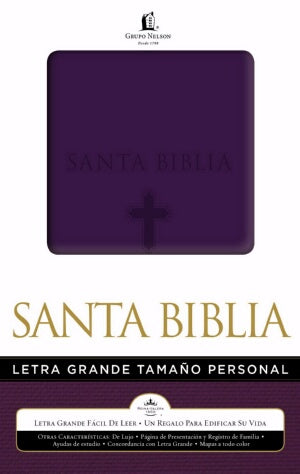 RVR 1960 Large Print Handy Size Bible-Purple-Spanish