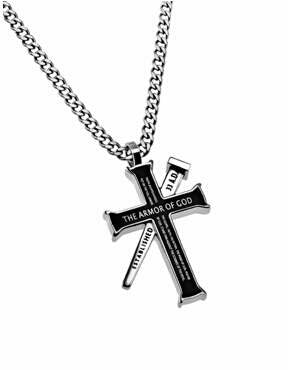 Blk Established Cross/Nail-Armor Of God ( Necklace