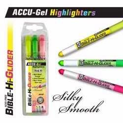 ACCU-Gel Bible Hi-Glider (3Pk)-Yellow/ Highlighter