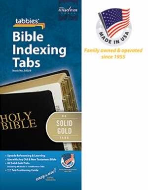 Bible Tab-Standard O&N Testament-Solid Gold
