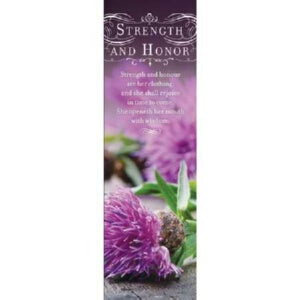 Womens Day: Strength And Honor (Jun) Bookmark
