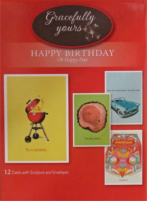 Card-Boxed-Birthday-Oh Happy Day #119 (Box Of 12)