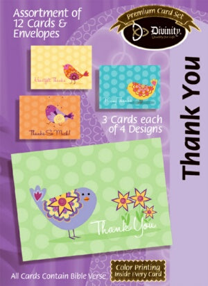 Thank You (Bird) Boxed Cards