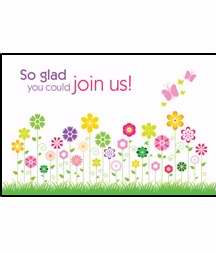Postcard-Glad You Could Join Us/Flowers (Pack Of 25) (Pkg-25)