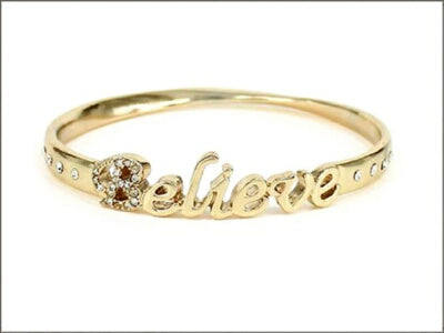 Believe Bangle-Gold Bracelet