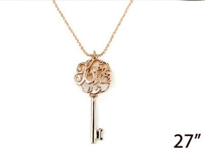Key Love-Rose Gold Necklace