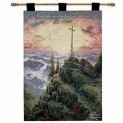 Wall Hanging-:E-Sunrise w/Verse John 11:25 (Tapest