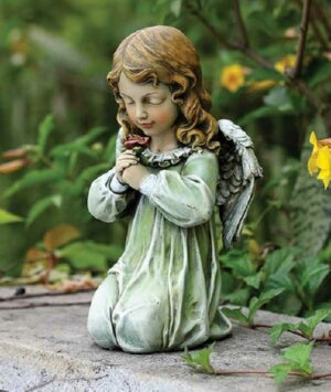 "Garden Figurine-Kneeling Angel (12"")"