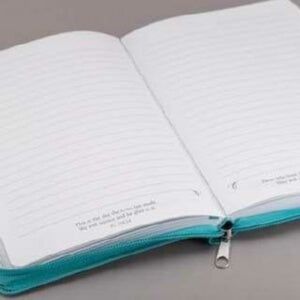 I Can Do Everything-LuxLeather-Teal w/Zipp Journal