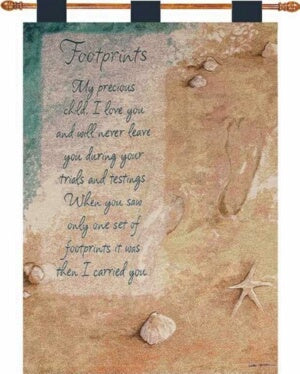 Wall Hanging-Footprints (Tapestry) (26 x 36)