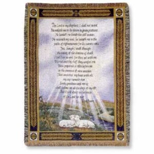 Throw-23rd Psalm (Tapestry) (50 x 60)