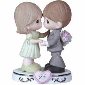 Figurine-25th Anniversary-Couple w/Heart (Through