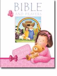 Bible And Prayers For Teddy And Me-Pink