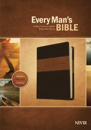 NIV*Every Mans Bible-Deluxe Heritage Edition-Brn/T