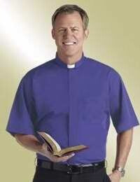 Clerical Shirt-Short Sleeve w/Tab-17.5 In-Royal Bl