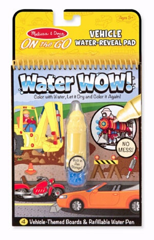 Water Wow-Vehicles Coloring Book