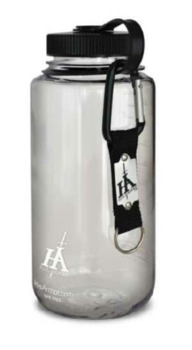 Water Bottle-His Armor 1000 ml Sports-Clear