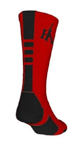 Socks-His Armor Sports-Red/Blk