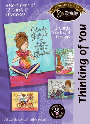 Thinking Of You-Painted Girls (Bx/12) (Ju Boxed Cards