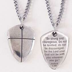 "Shield Of Faith (Cross)-Small w/18"" Chain Necklace"