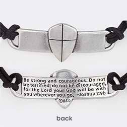 Shield Of Faith (Cross) w/Adjustable Cord Bracelet