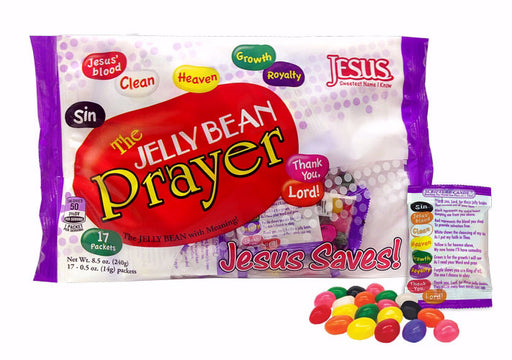 Candy-Jelly Bean Prayer/Jesus Saves (10 Oz Bag)  (Pkg-17)