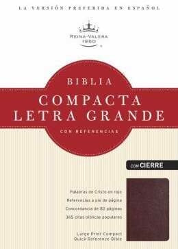 RVR 1960 Large Print Compact Reference Bible--Spanish