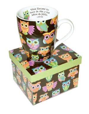 Mug-Owl Pattern-Spanish