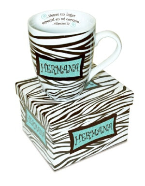 Mug-Sisters Zebra-Phillipians 1:7-Spanish