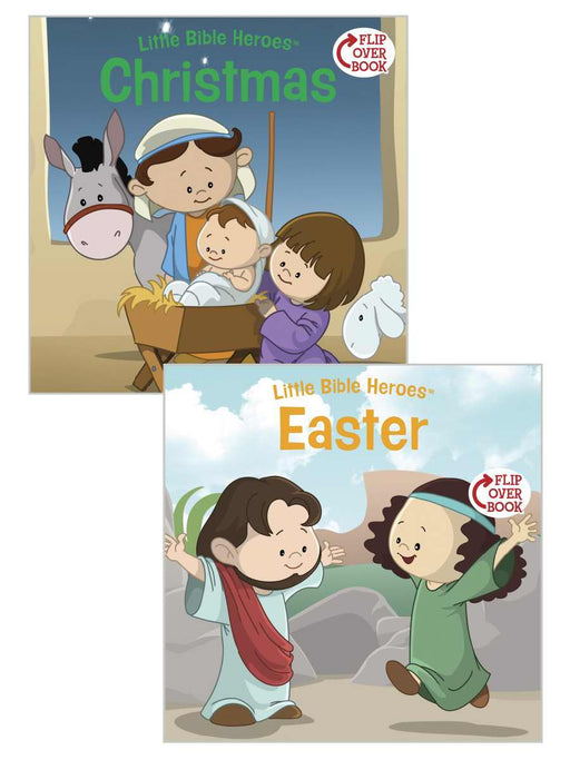 Christmas/Easter Flip-Over Book (Little Bible Heroes)