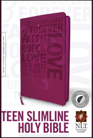 NLT2 Teen Slimline Bible/1 Corinthians 13-Hot Pink