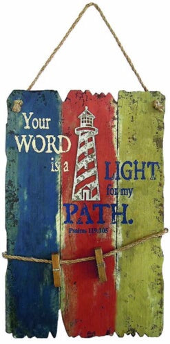Wall Art-Lighthouse-Your Word is A Light For My Pa