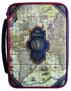 Bible Cover-Nautical Map-X-Large (Apr)