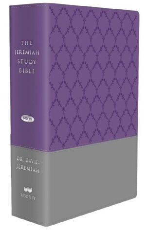 NKJV Jeremiah Study Bible-Purple/Gray Burnished w/