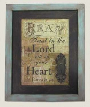 Wall Sign-Pray-Vintage Wood (17.25 x 21.5)