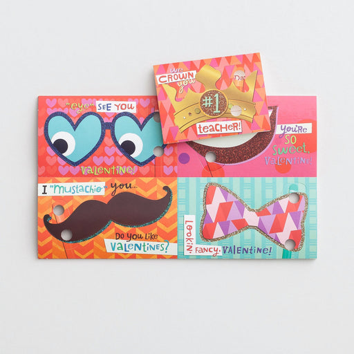 Card-Boxed-Valentine-Silly Disguises (Child) (Box Of 32)  (Pkg-32)
