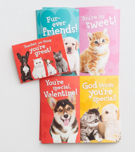 Card-Boxed-Valentine-Whiskers & Paws (Child) (Box Of 32)  (Pkg-32)